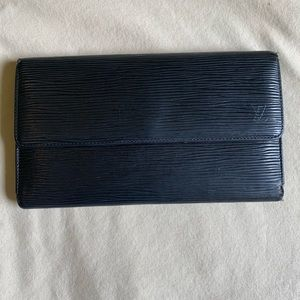 Vintage Black Epi Louis Vuitton Wallet